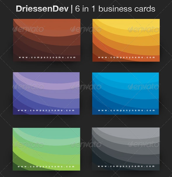 6 in 1 Fresh Business Card - Corporate Business Cards