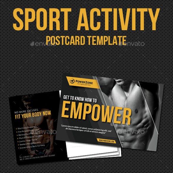 Sport Activity Postcard Template V12