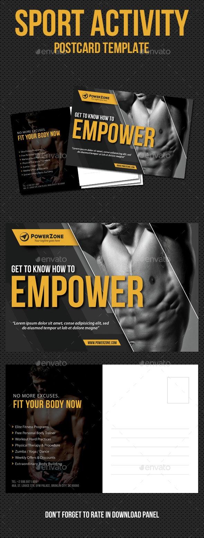 Sport Activity Postcard Template V12 - Cards & Invites Print Templates