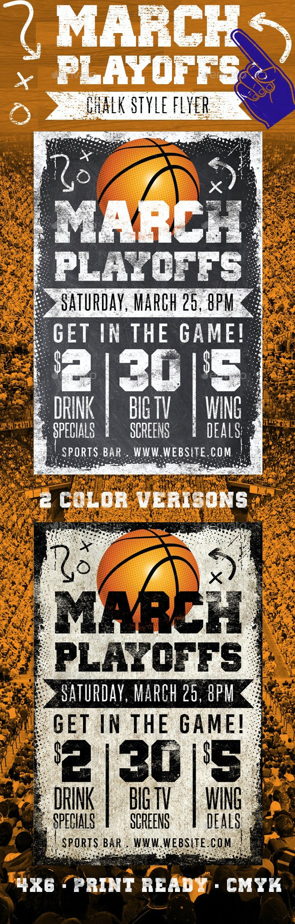 Chalk March Basketball Flyer  - Sports Events