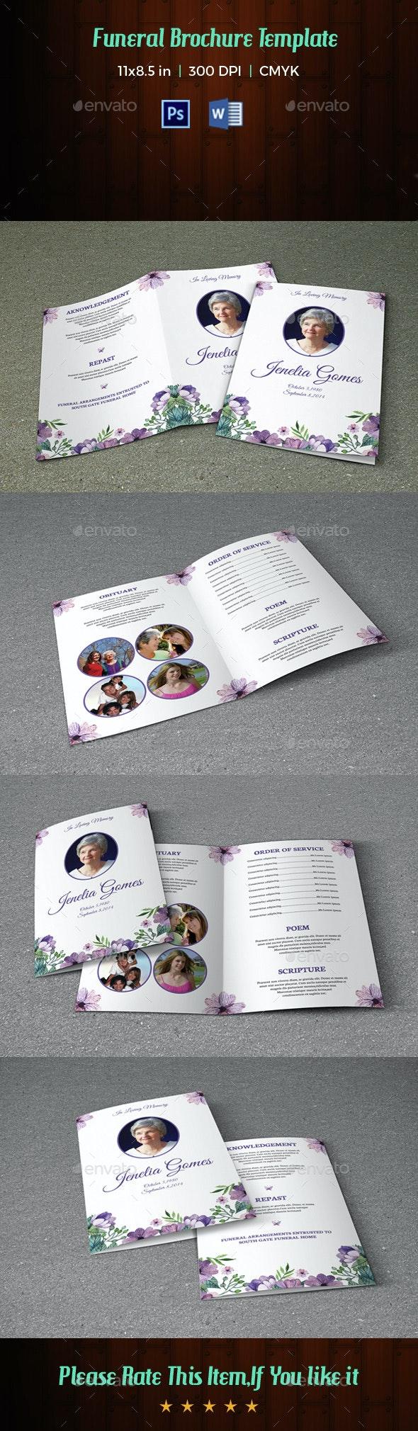 Funeral Program Template-V36 - Informational Brochures