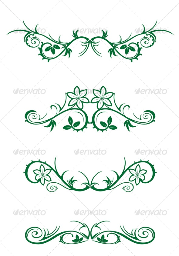 Vector decorations - Flourishes / Swirls Decorative