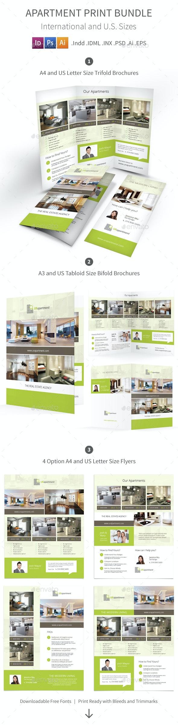 Apartment For Rent Print Bundle - Informational Brochures
