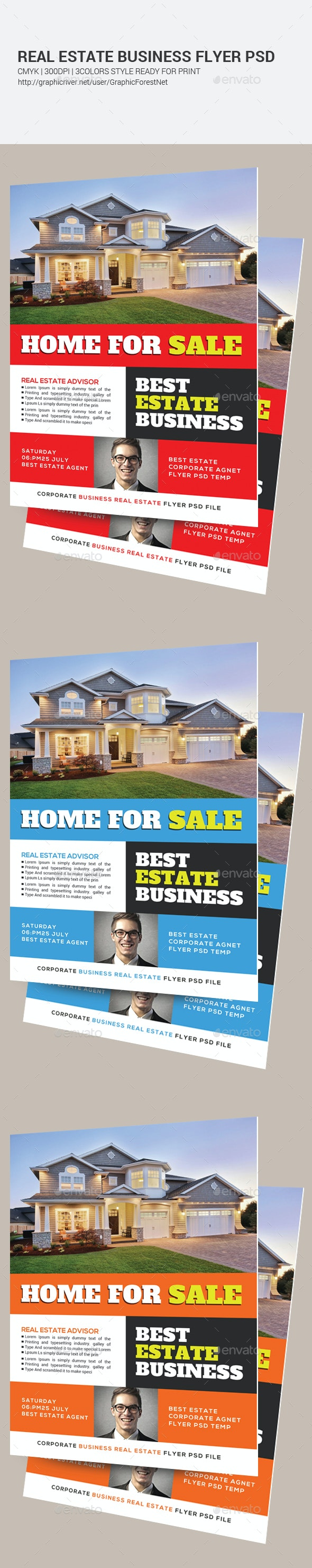Home Real Estate Flyer Psd - Corporate Flyers