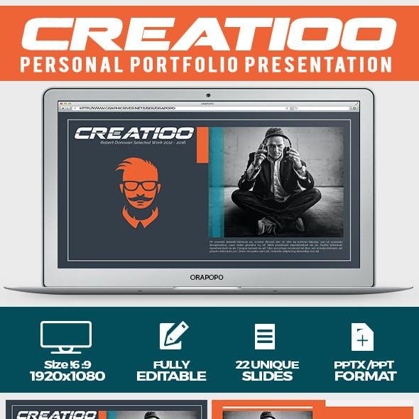 Creatioo ~ Personal Portfolio Presentation
