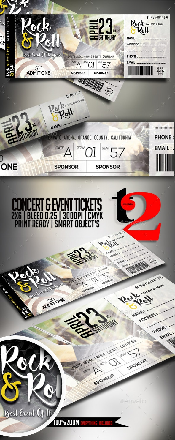 Concert & Event Tickets Template - Clubs & Parties Events