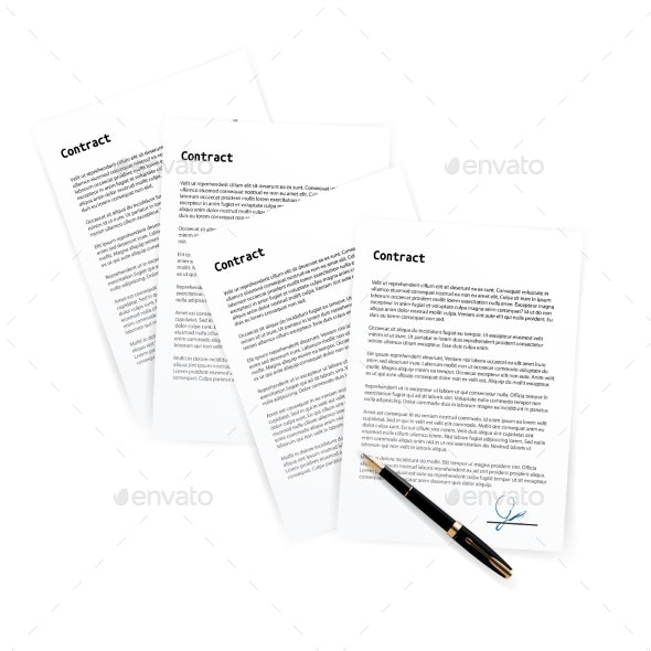 Hand Signing Contracts on White Paper - Concepts Business