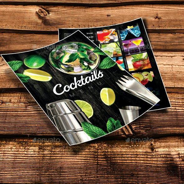 Cocktails Drinks Menu