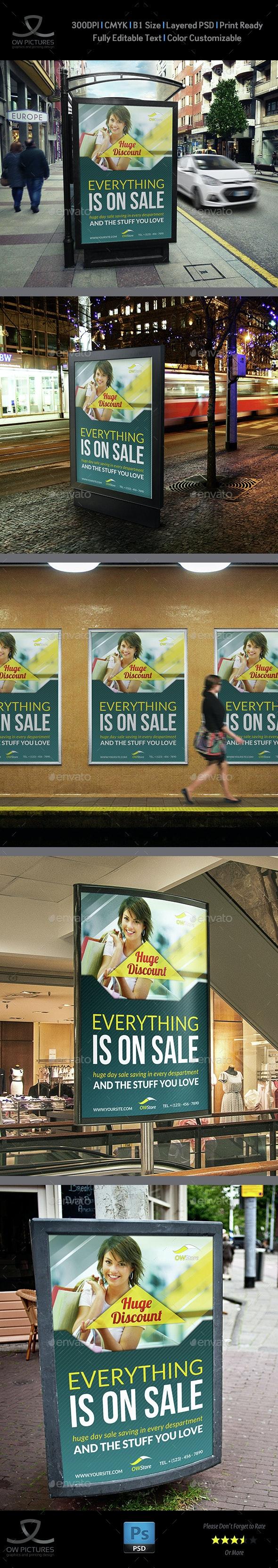 Shop - Market Poster Template - Signage Print Templates
