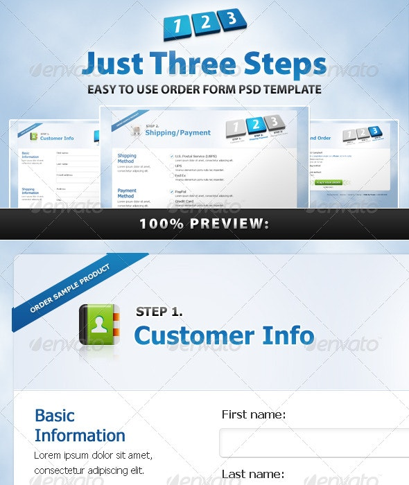 Just Three Steps - Forms Web Elements