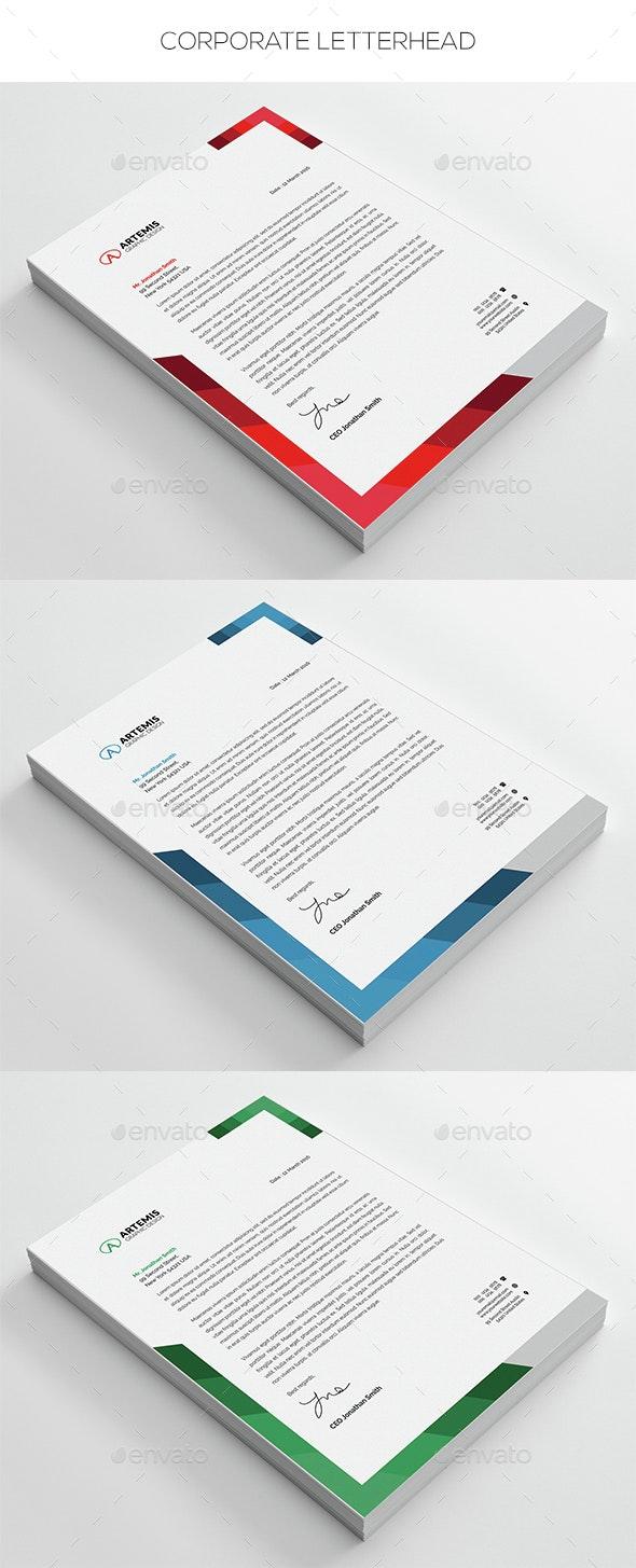 Corporate Letterhead - Stationery Print Templates