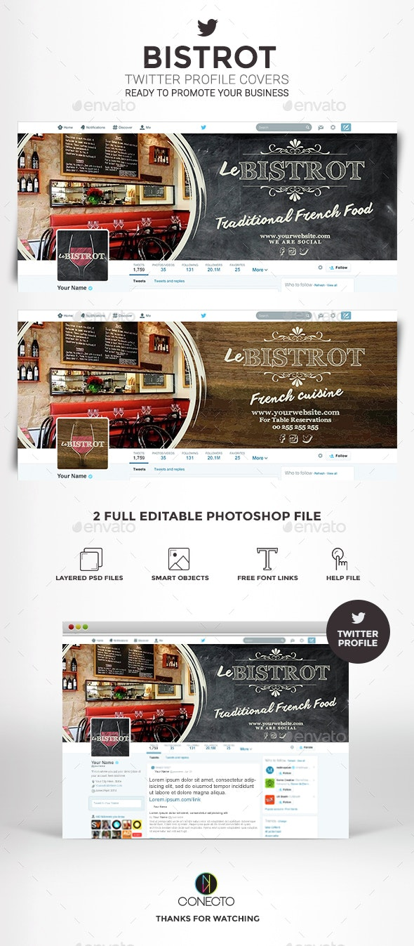 Twitter Profile Cover - Bistrot - Twitter Social Media