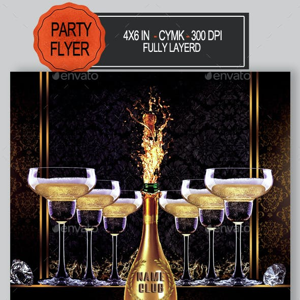 Champagne Party Flyer