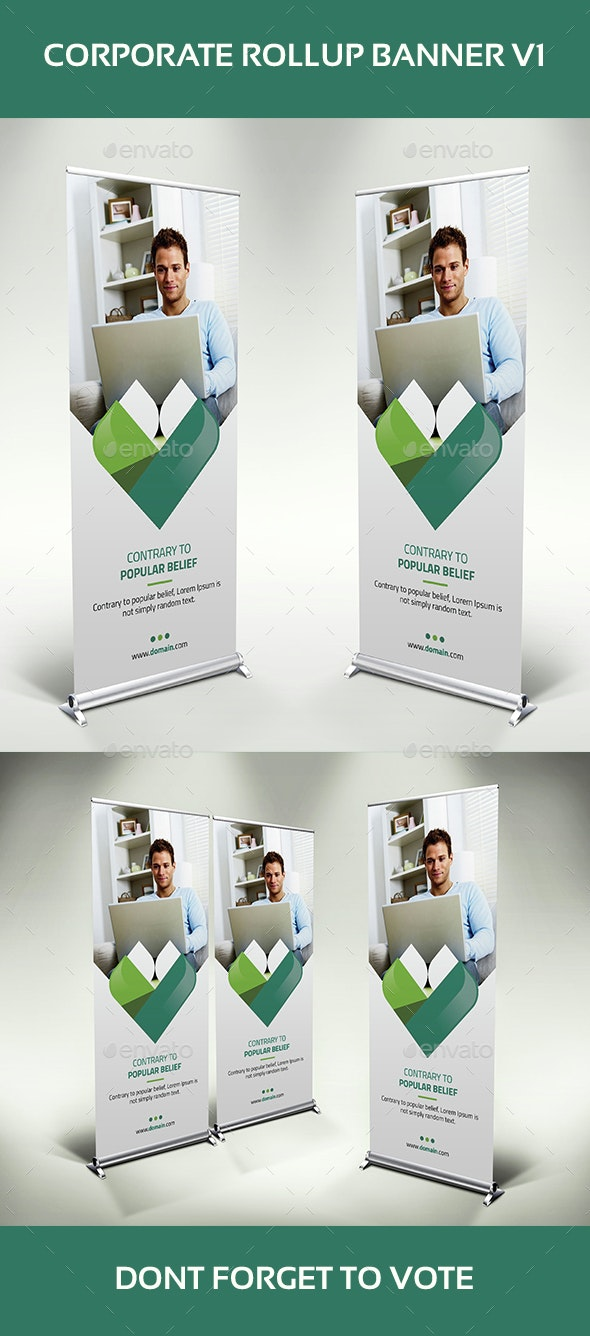 Corporate Rollup Banner V1 - Signage Print Templates