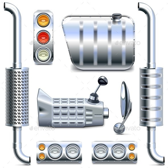 Vector Chromed Truck Parts Set 2 - Industries Business