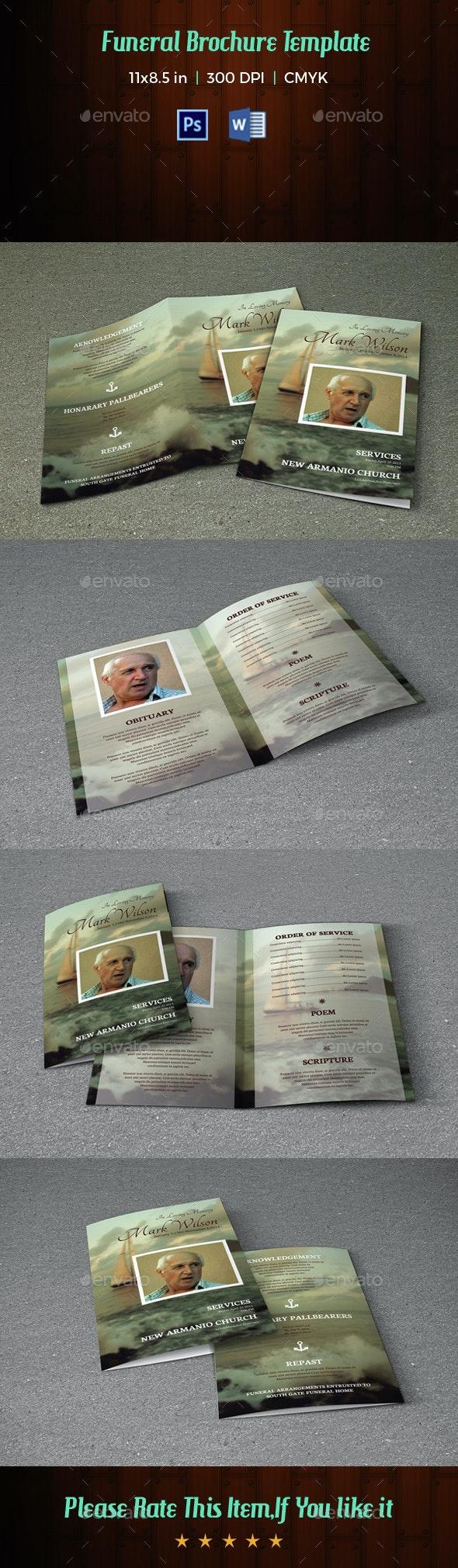Funeral Program Template-V37 - Informational Brochures