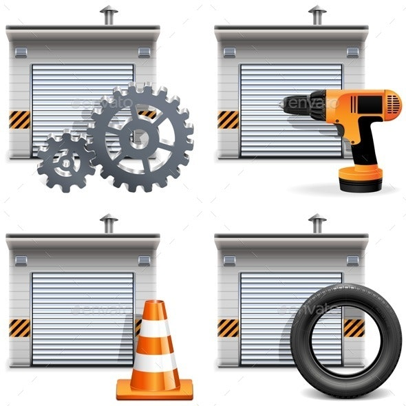 Garage with Tools and Spares - Industries Business
