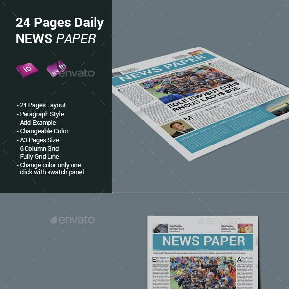 24 Pages Daily Newspaper