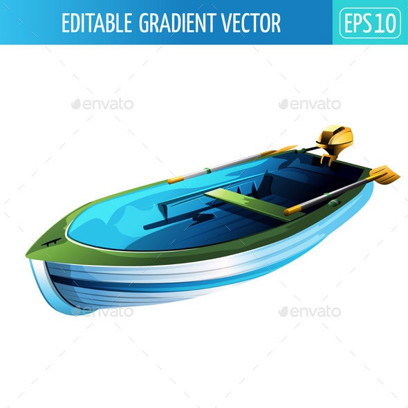 Rowing Boat Illustration - Man-made Objects Objects
