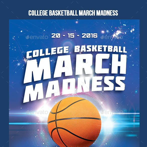 March Madness College Basketball Promo Flyer