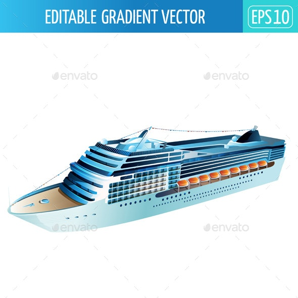 Cruise Liner Illustration - Man-made Objects Objects