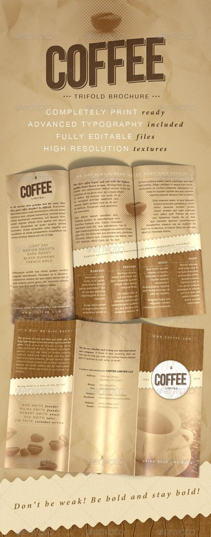Coffee Trifold Brochure - Corporate Brochures