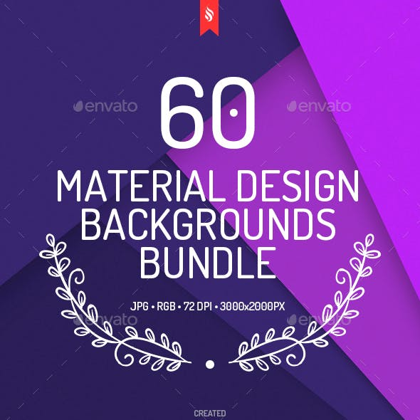 60 Material Design Backgrounds Bundle