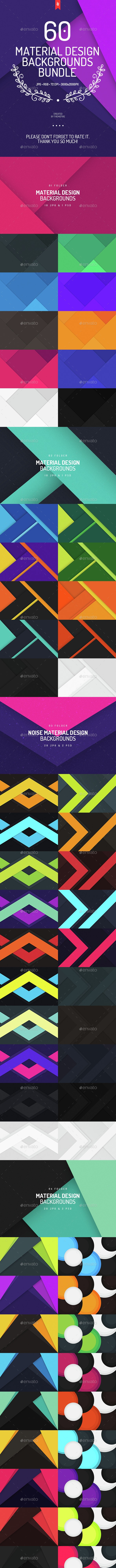 60 Material Design Backgrounds Bundle - Backgrounds Graphics