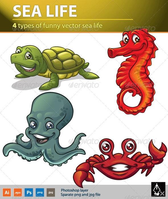 Sea life 2 - Animals Characters