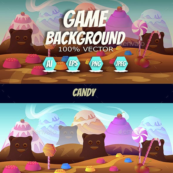 Candy Game Background