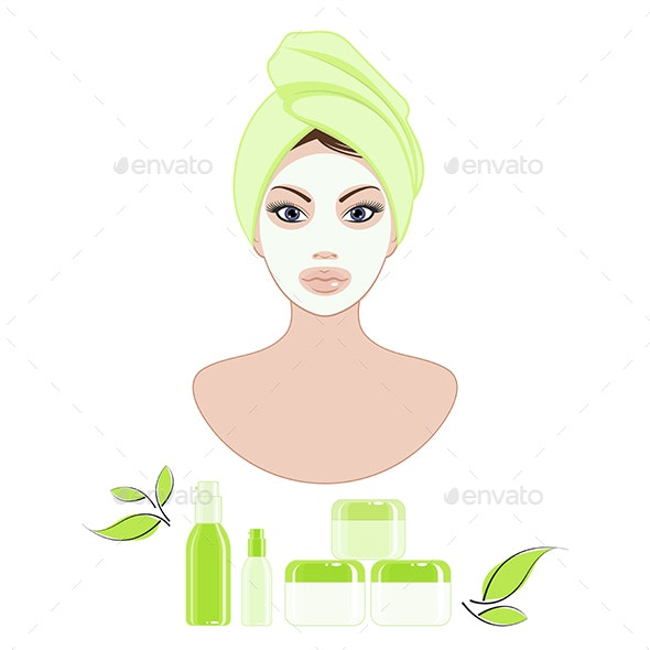 Cosmetic Face Care - Health/Medicine Conceptual
