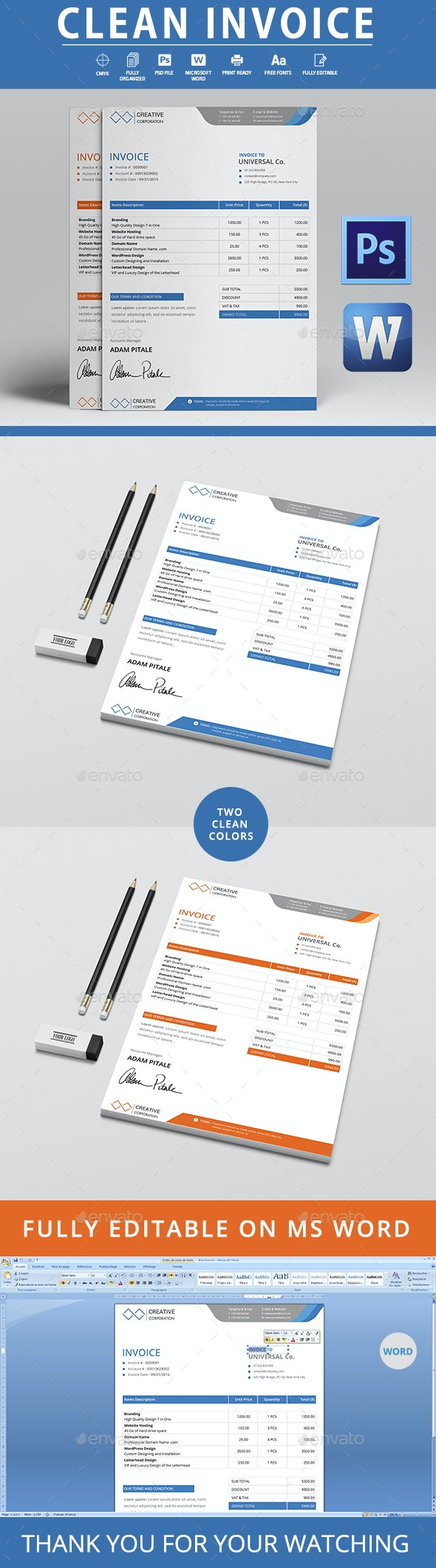 Invoice - Invoice Template - Proposals & Invoices Stationery