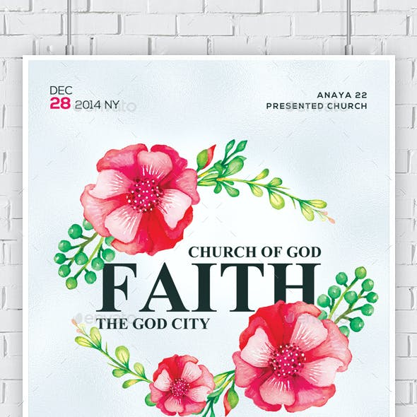 God Is Faithful Church Flyer