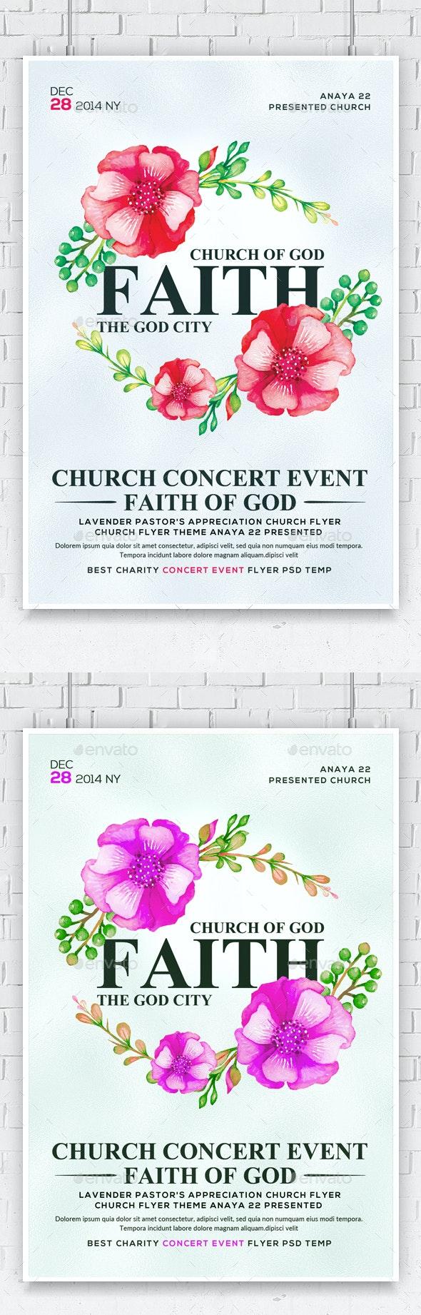 God Is Faithful Church Flyer - Church Flyers