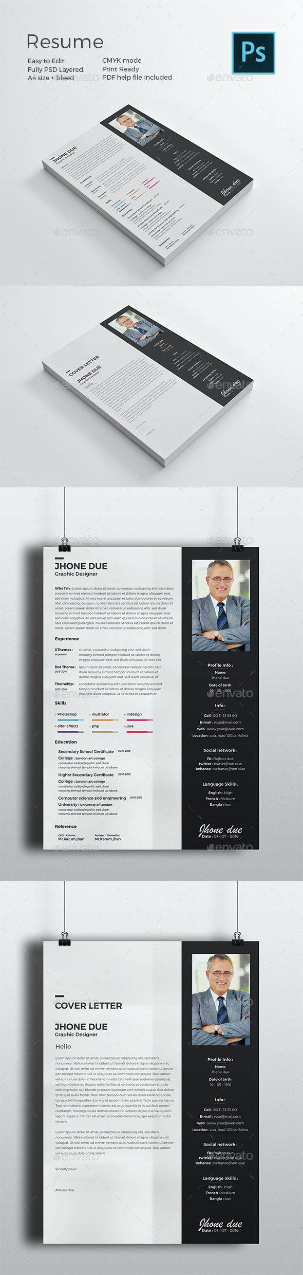 Black Resume - Resumes Stationery