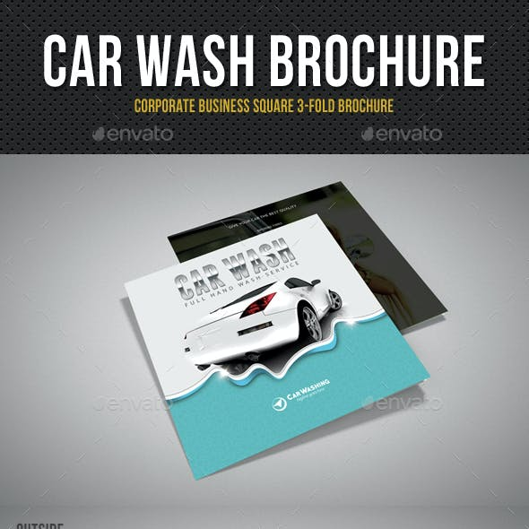 Car Wash Square 3-Fold Brochure 02
