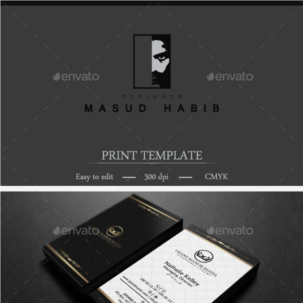 Gold And Black Business Card 3