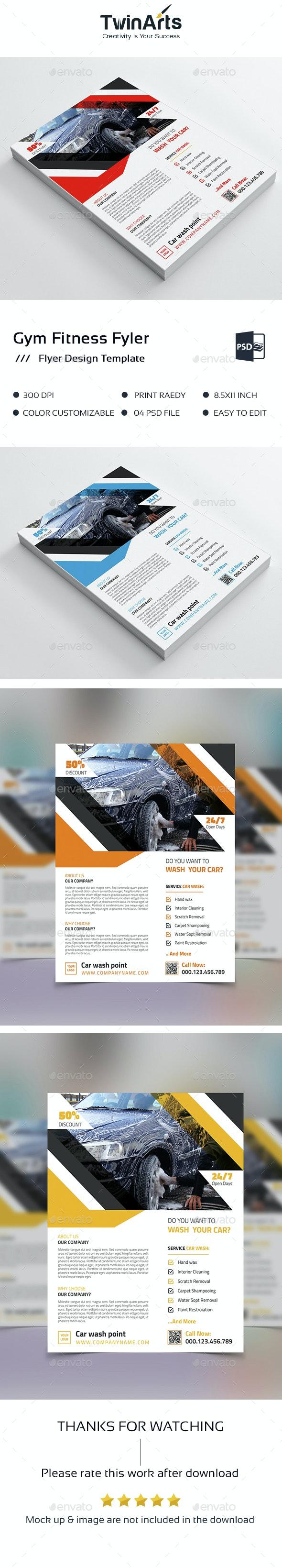 Car Wash Business Flyer Design. - Flyers Print Templates
