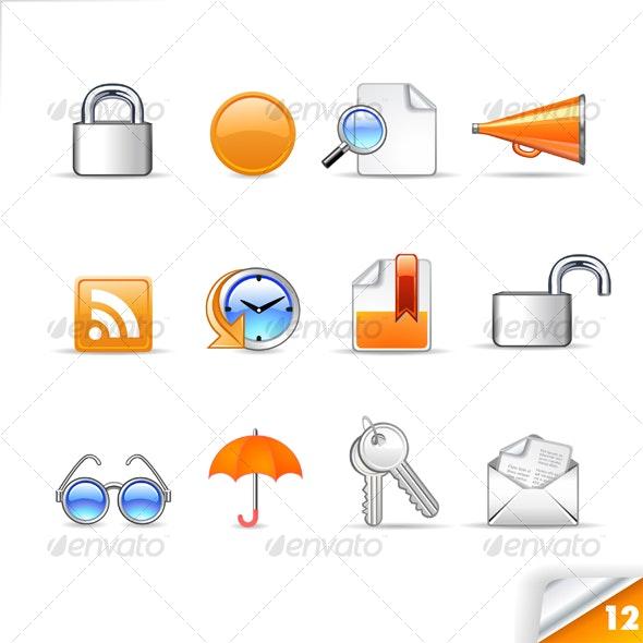 icon set n°12  - web theme - infinity series