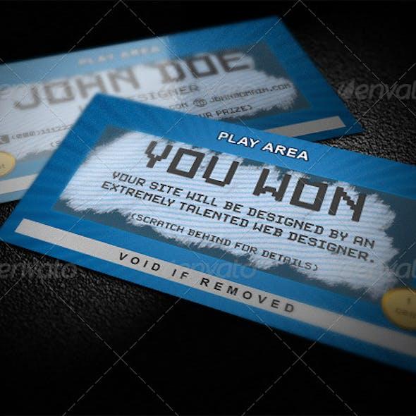 Scratch Business Card