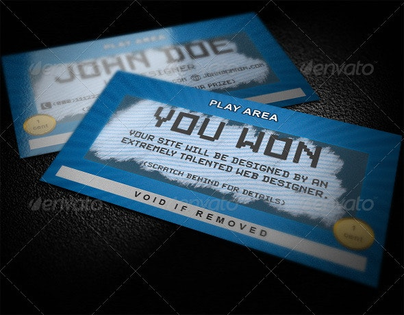 Scratch Business Card - Creative Business Cards