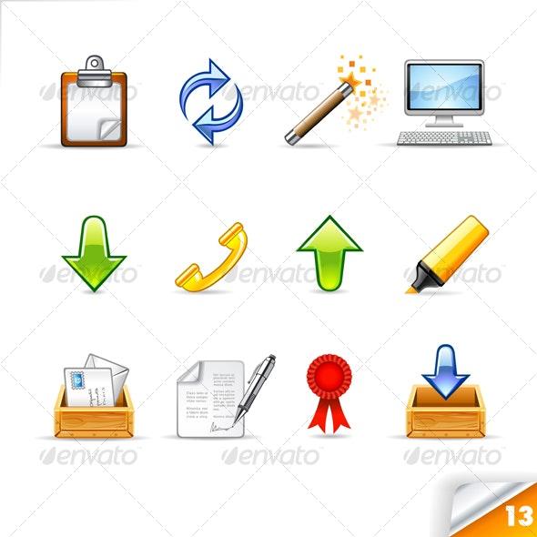icon set n°13  - office theme - infinity series - Web Icons