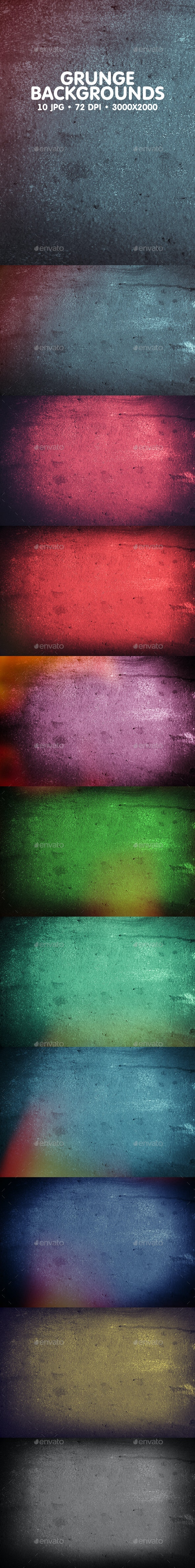 10 Grunge Backgrounds - Abstract Backgrounds