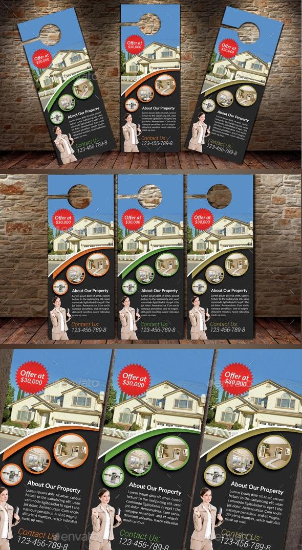 Real Estate Agency PSD Door Hanger - Miscellaneous Events