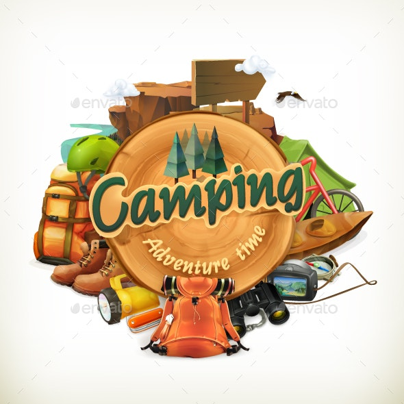 Camping Adventure Time - Decorative Symbols Decorative
