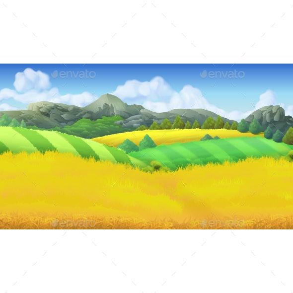 Farm Landscape  - Landscapes Nature