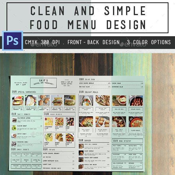 Clean Simple Bifold Menu