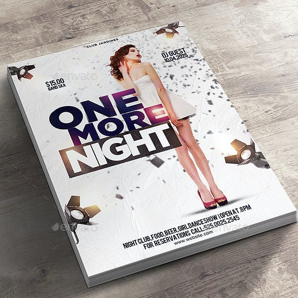 Flyer One More Night