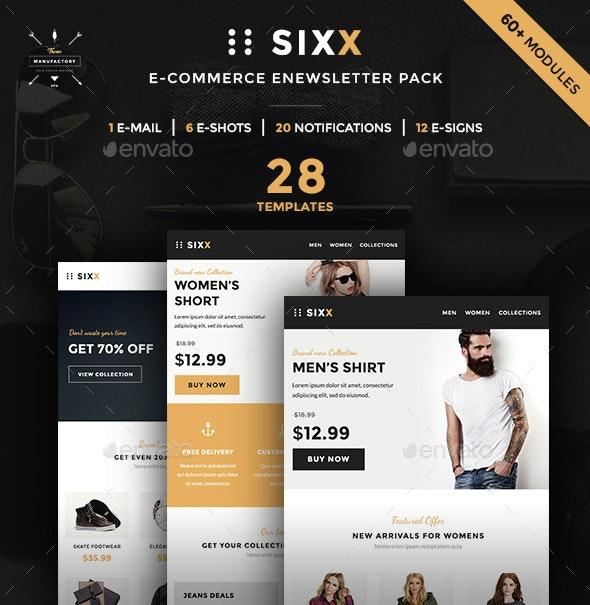 Sixx - E-commerce E-Newsletter Pack - E-newsletters Web Elements