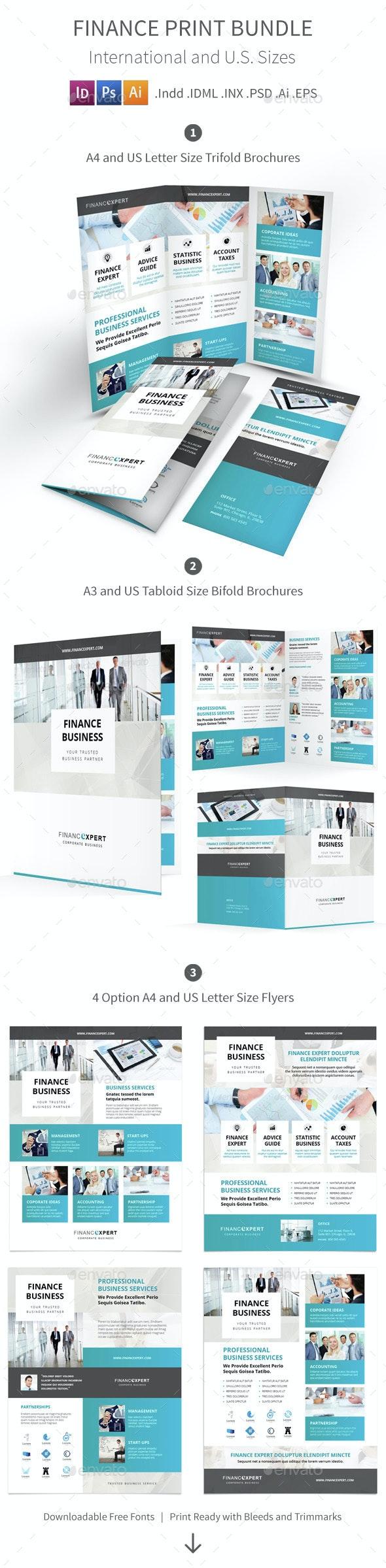 Finance Print Bundle - Corporate Brochures